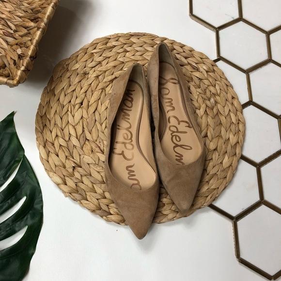 Sam Edelman Shoes - Sam Edelman Rae Pointed Toe Flats Tan Taupe